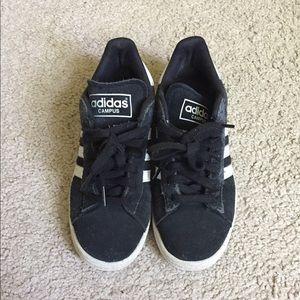 Adidas Black/White Campus Sneaker Size 7